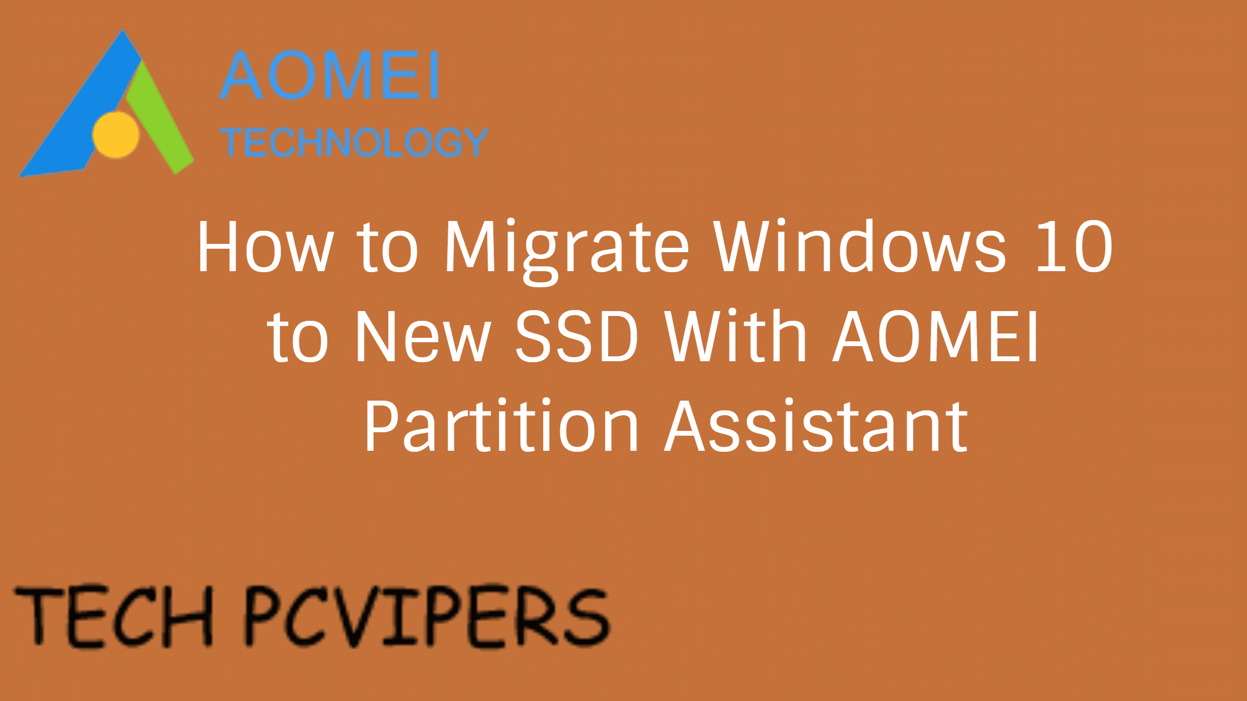How to Migrate Windows 10 to New SSD With Freeware
