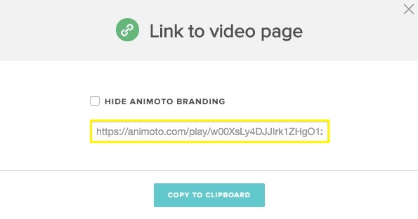 Animoto link creator