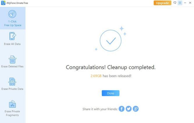 congratulation cleanup completed
