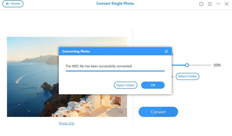 HEIC file converted