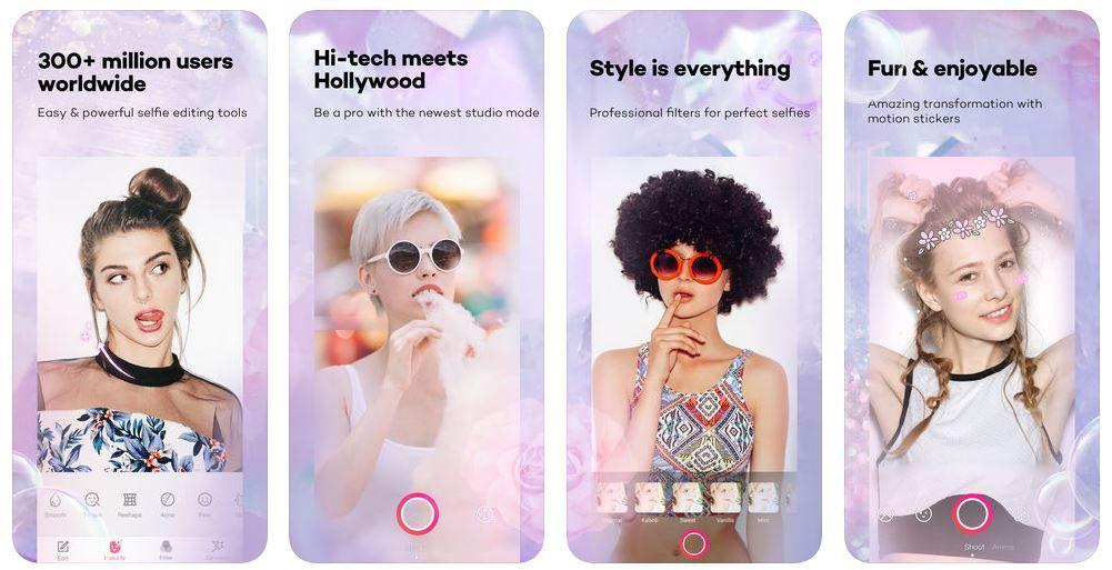 beauty plus selfie editing apps