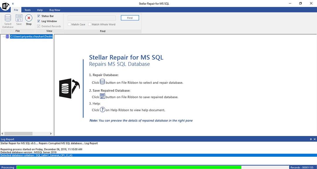 Repair MS SQL Database