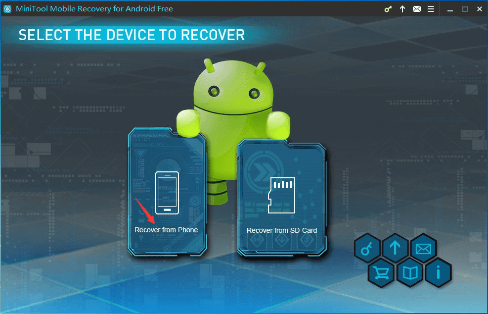 Select the device to recover