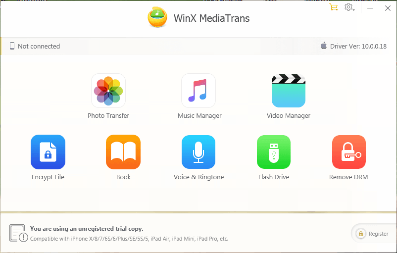 WinX-Mediatrans - Transfer files from PC to Iphone
