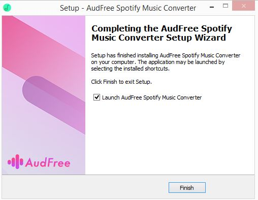 AudFree Spotify Music Converter installed