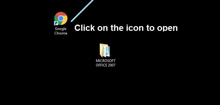 Click on Chrome icon