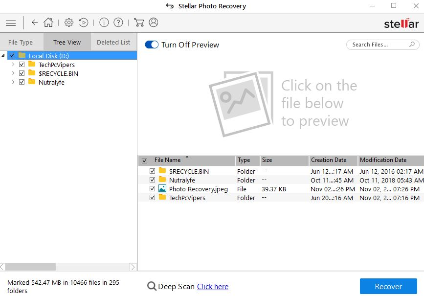 select the file you want to recover