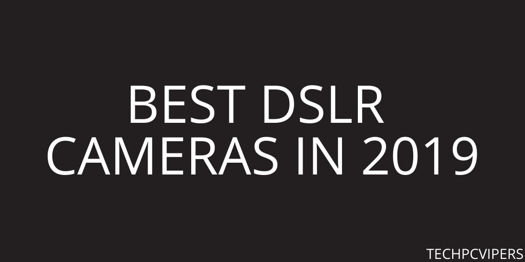 Best DSLR Cameras in 2019