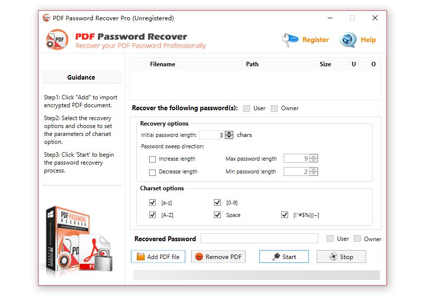 PDF_Password_Recovery Tool