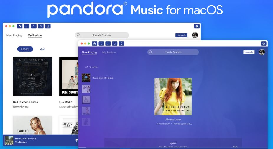 New Pandora app for Mac desktop