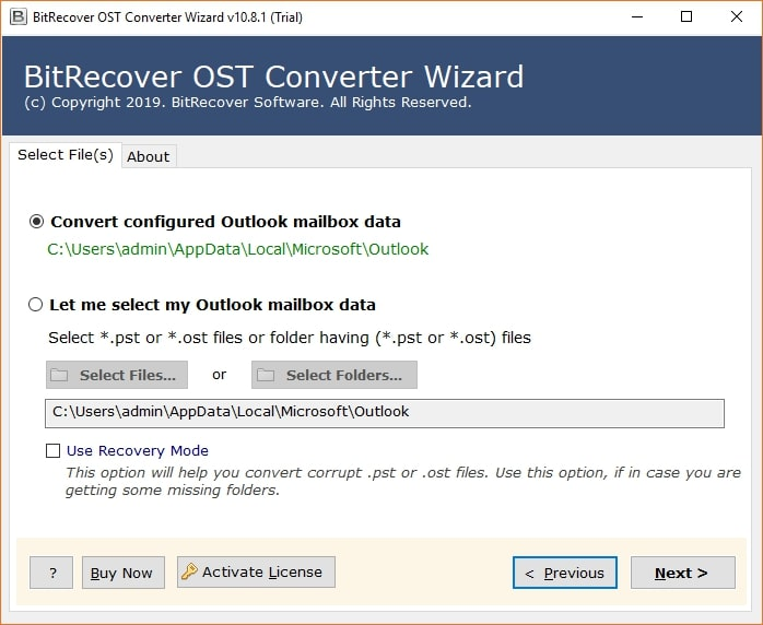bitrecover OST Software