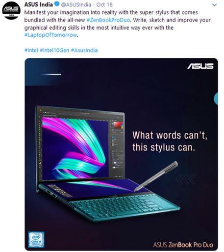Asus-India-Tweet