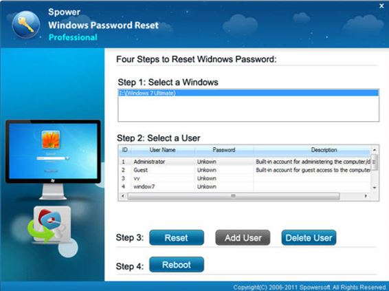Spower Password reset