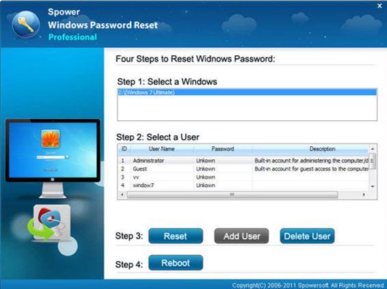 Spower Password reset