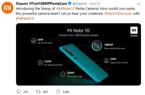 Xiaomi-Mi-CC9-with-108-MP-penta-camera