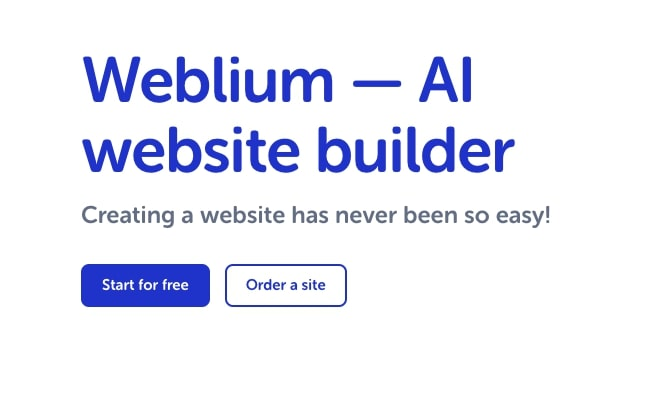Weblium - AI Website Builder