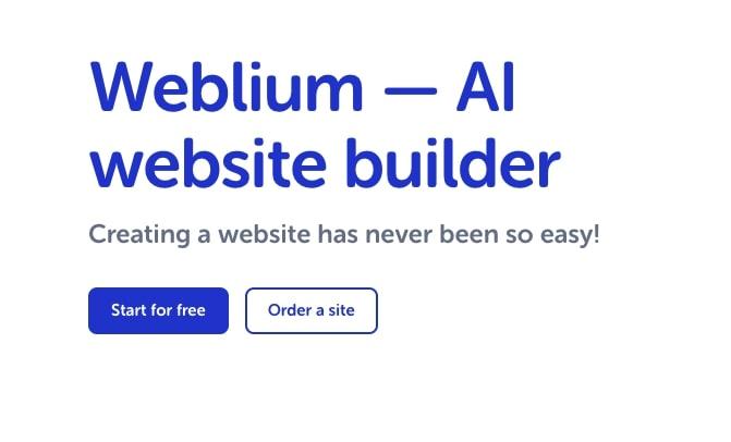 Weblium - AI Website Builder