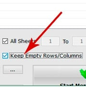 Keep empty rows/columns