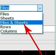 select files & sheets