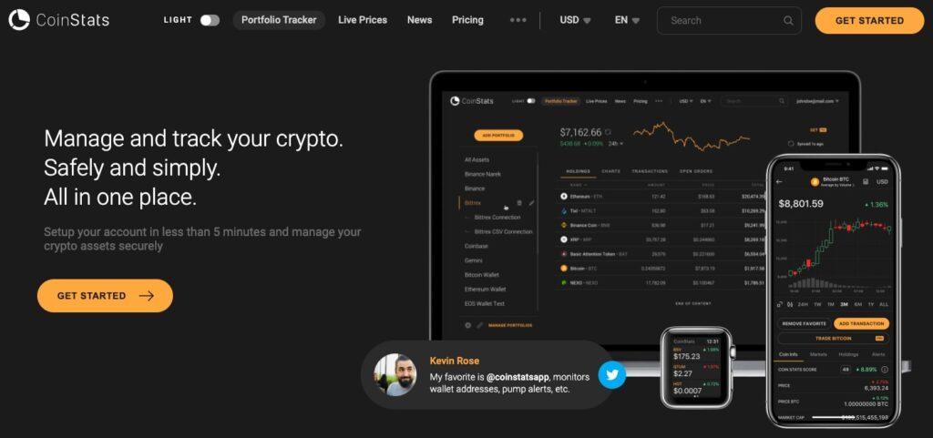 Coinstats - Manage & Track yoru crypto