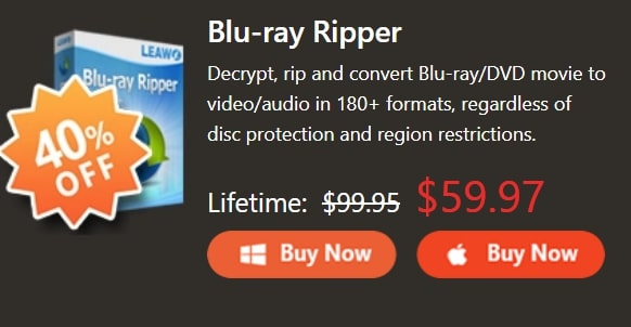 40% discount on Blu Ray - Ripper