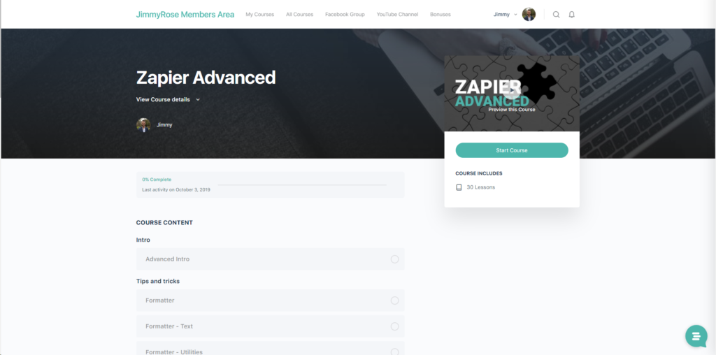Zapier Master Course - Jimmy Rose
