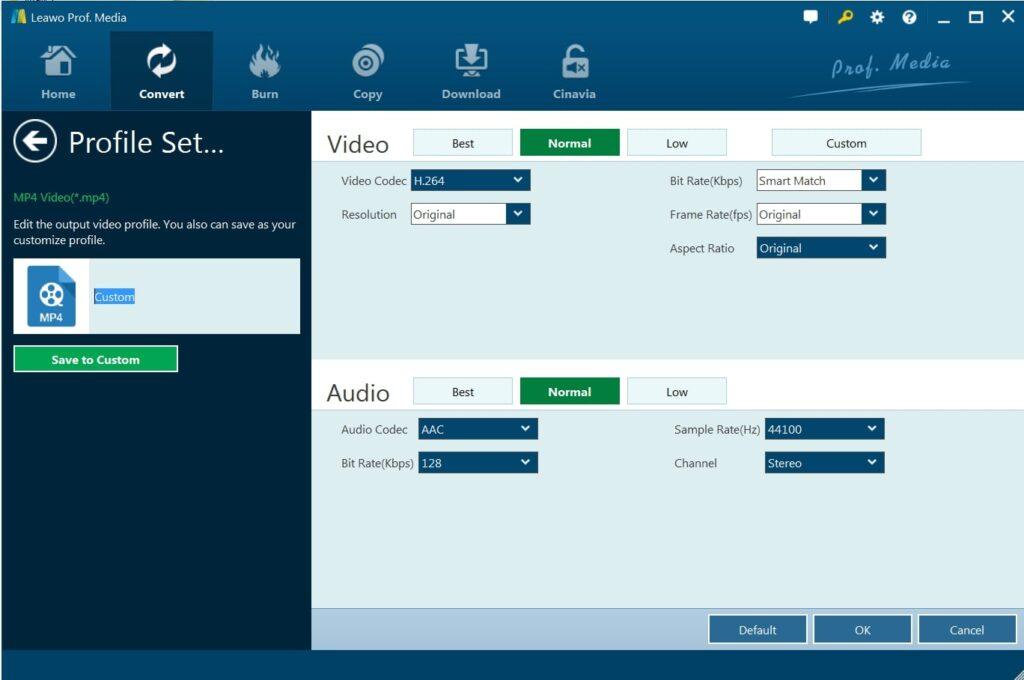 Set Video Audio Parameter