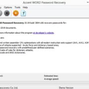 Accent-Word-Password-Recovery