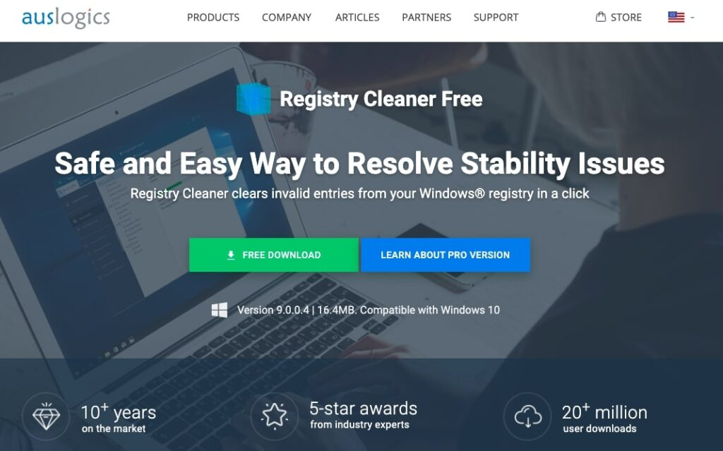 Auslogics Registry Cleaner free