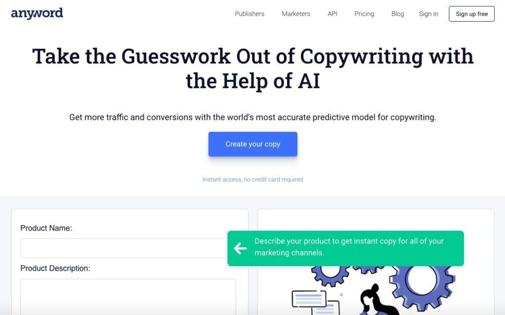 Anyword - AI Copywriting Tool