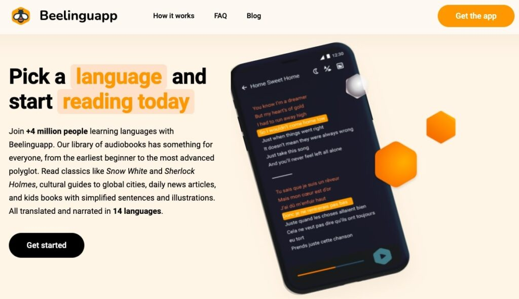 Beelinguapp - Language Learning