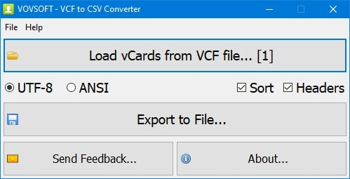 export your vcf file