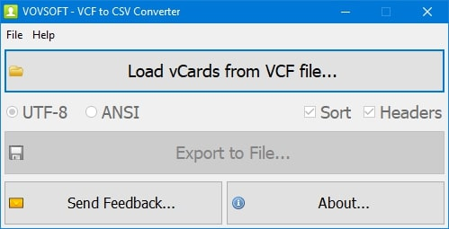 select vcf file