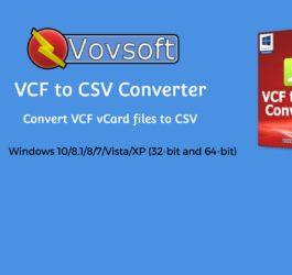 Vovsoft-VCF-to-CSV-Converter