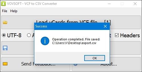 file saved
