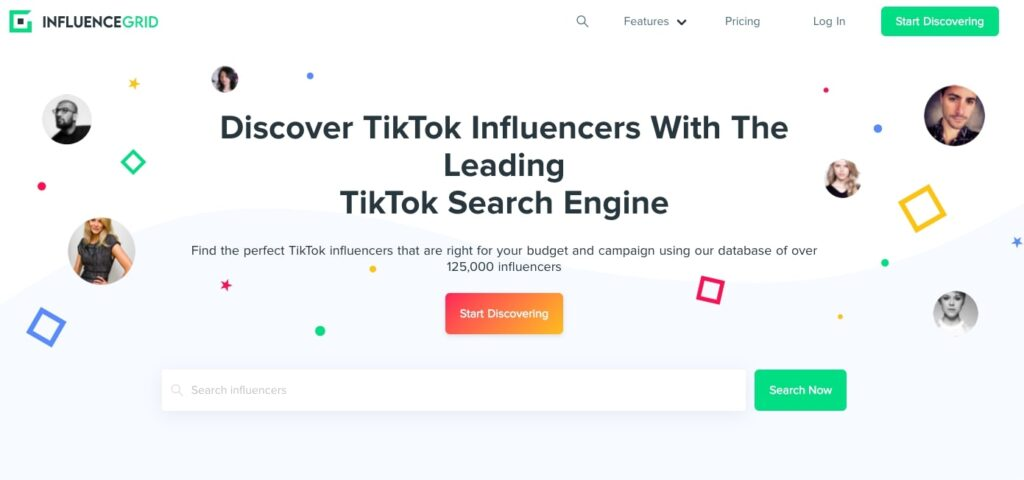 InfluenceGrid-Tiktok-Search-Engine