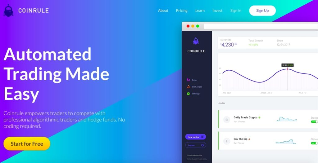 Coinrule-Automated-Crypto-Trading-Bot