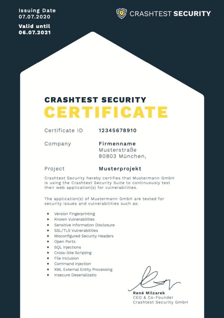 Crashtest-Security-Certificate