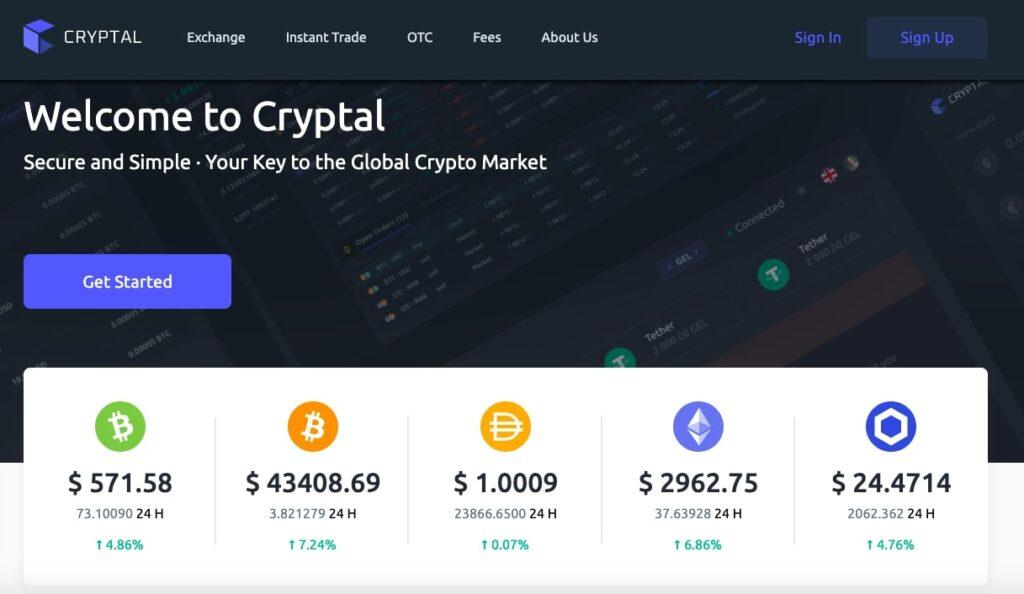Cryptal - Crypto Exchange