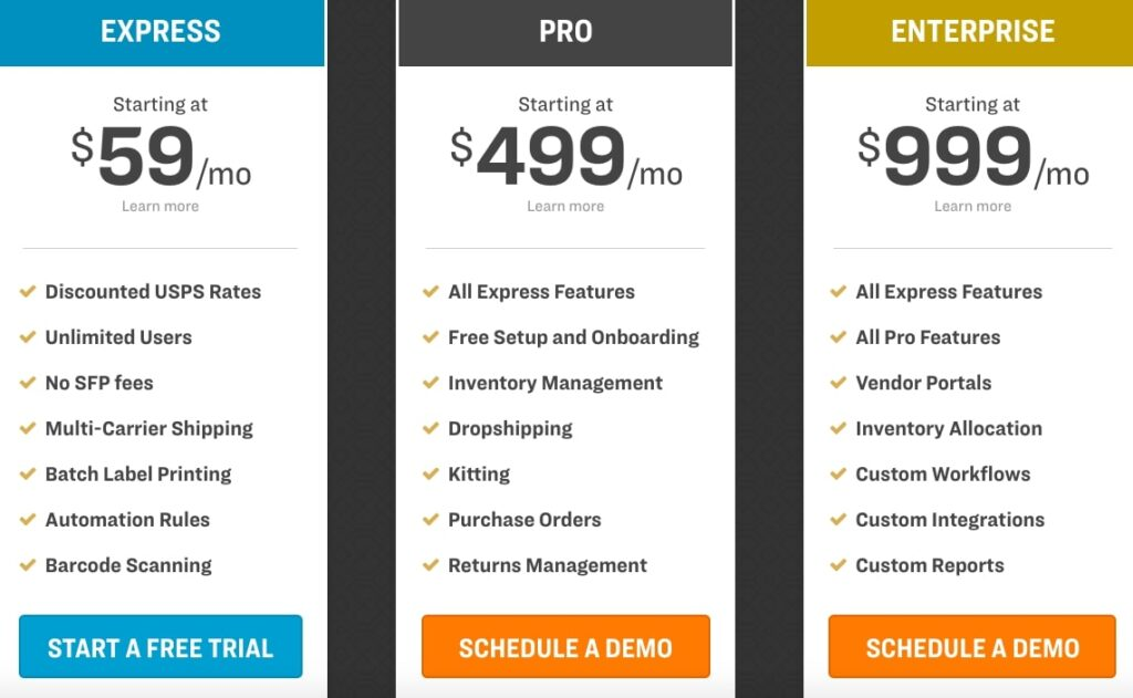 Ordoro Pricing Plans