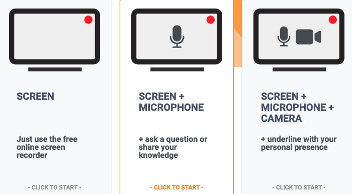 3 option to record screen