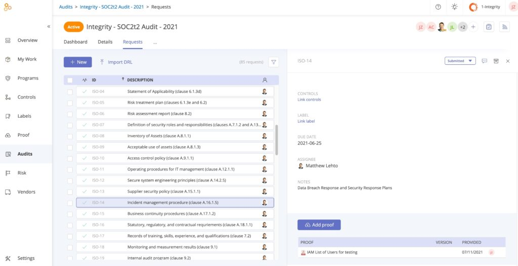 Audit-Level Reporting