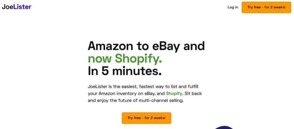 Amazon inventory on eBay andShopify